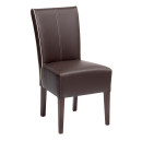 Shrewsbury High Back Dining Chairs Brown