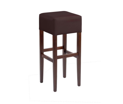 Taunton High Stools Brown Faux Leather