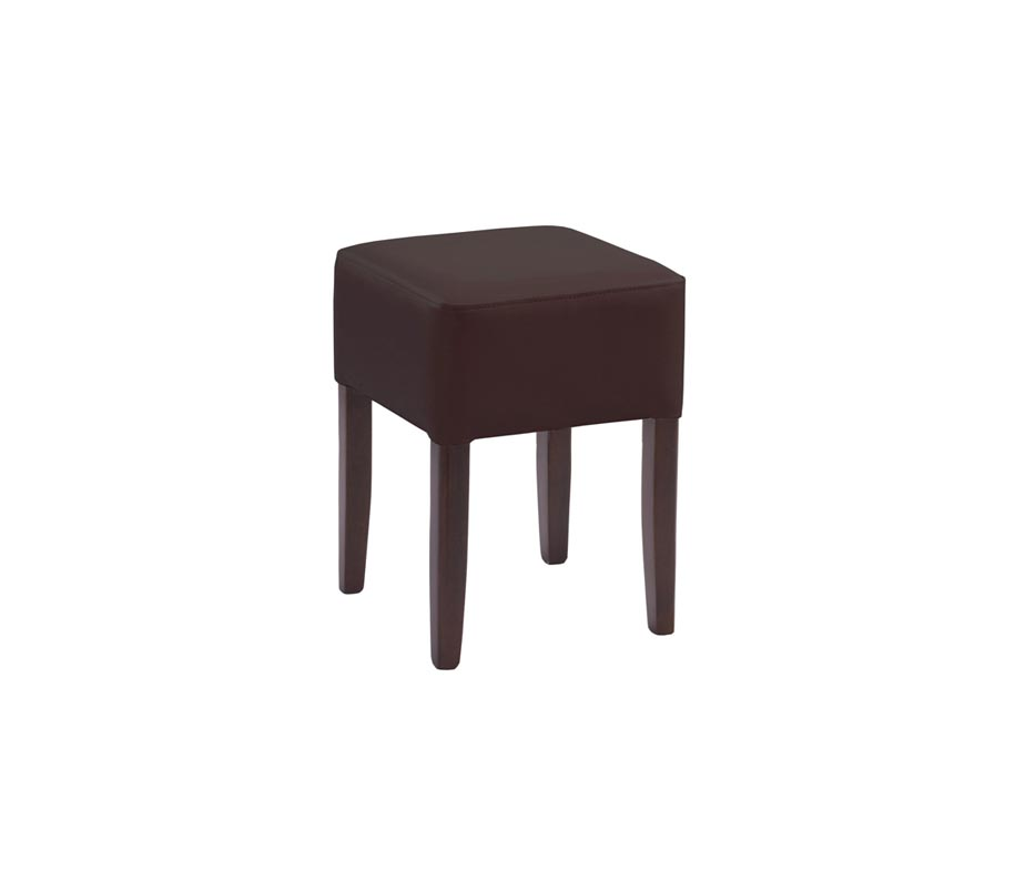 Taunton Low Stools In Cream Or Brown Faux Leather Buy Now