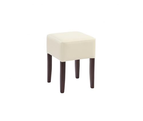 Taunton Low Stools Cream Faux Leather