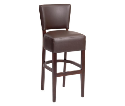Trent Bar Stools Brown Faux Leather