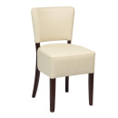 Trent Dining Chair Walnut Ivory