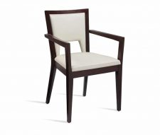 Abramo Armchairs White Faux Leather