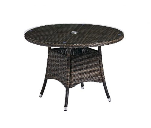 Al Fresco Rattan Dining Table Glass Top