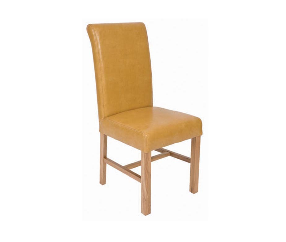 Atherton high back leather dining chairs by warner contracts for Leather back dining chairs