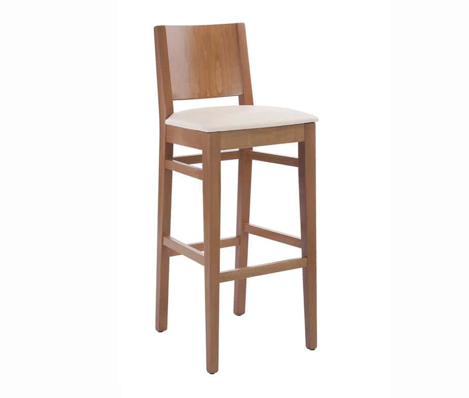 Aurora Bar Stool Walnut Cream Seat
