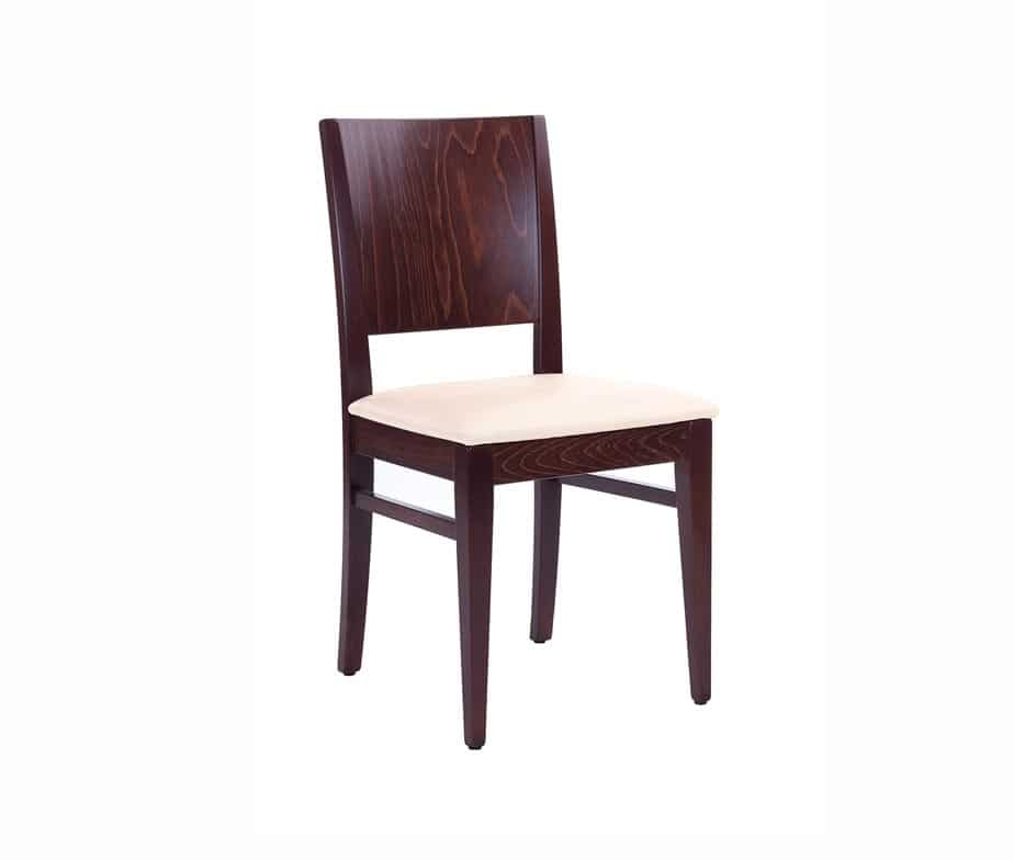 Aurora Side Chair Walnut Cream Seat