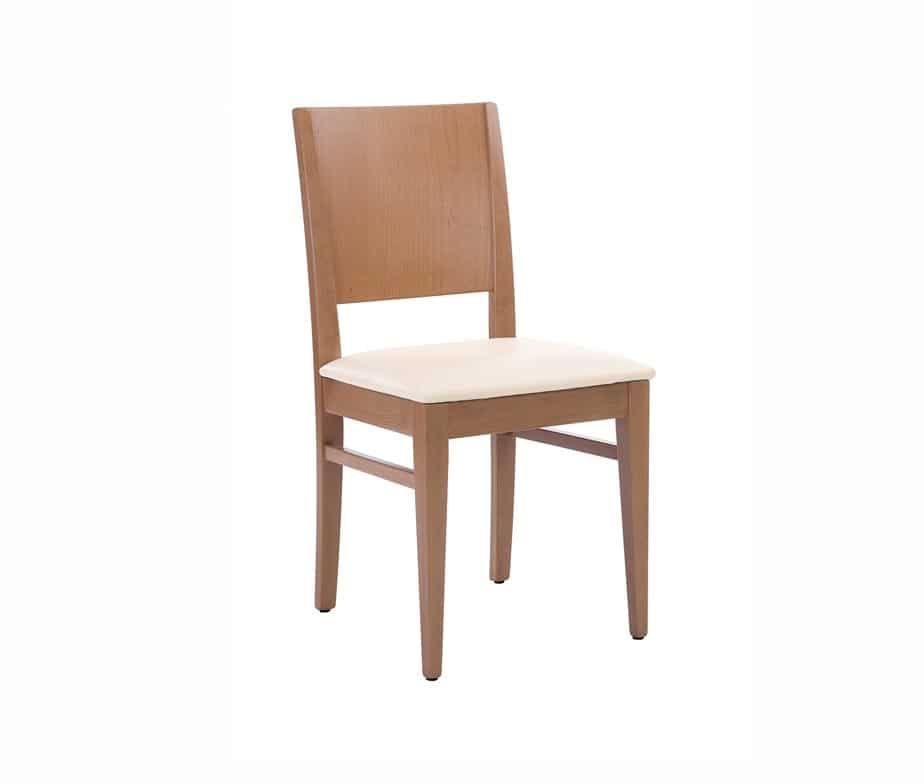 Aurora Side Chair Oak Cream Seat