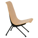 Avion Retro Side Chair Natural Black