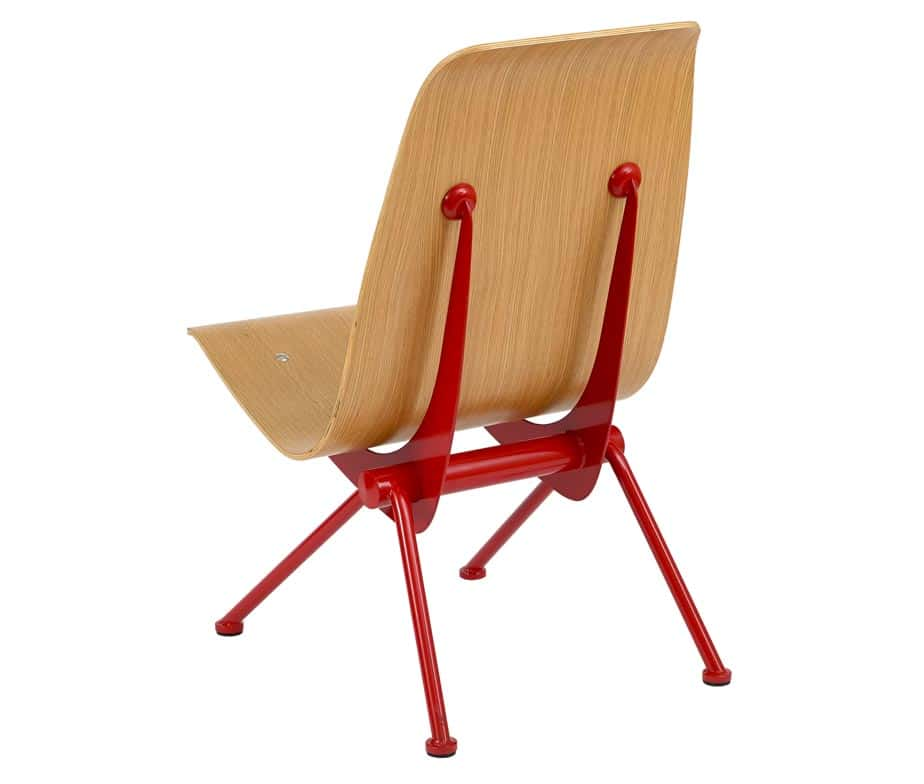 Avion Retro Side Chair Natural Red