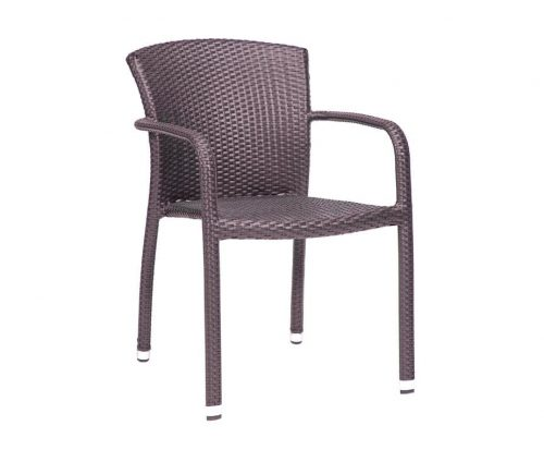Biarritz Stacking Outdoor Armchairs Taupe