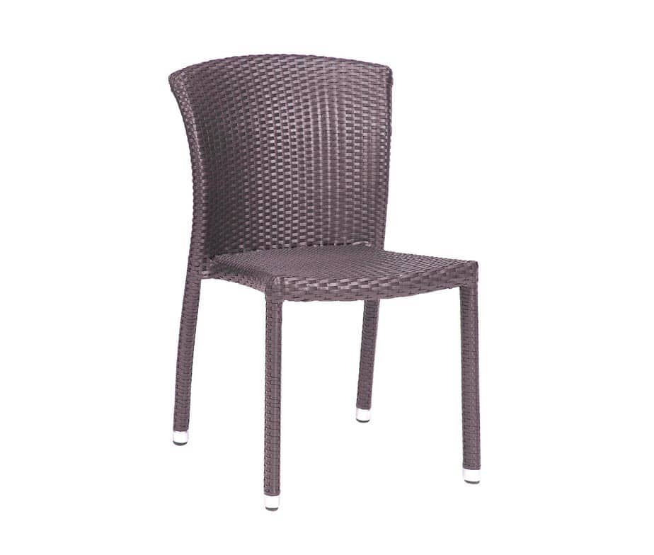 Biarritz Stacking Outdoor Chairs Taupe