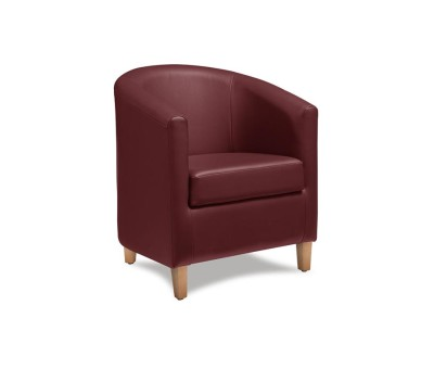 Bucket Seat Chair Red