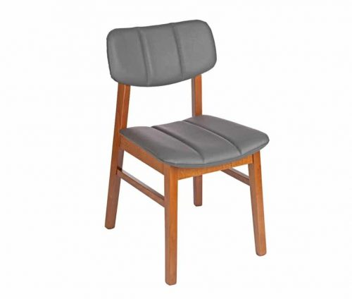 Burford Padded Cafe Chair Grey