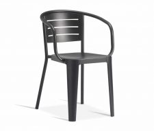 Carmen Outdoor Armchairs Black