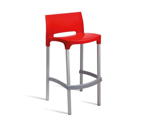 Chopin Outdoor Bar Stools Red