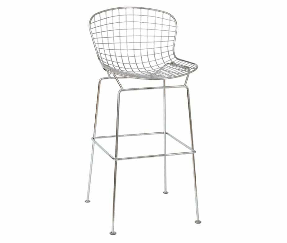 Chrome Mesh Bar Stools For Commercial Use By Warner Contracts
