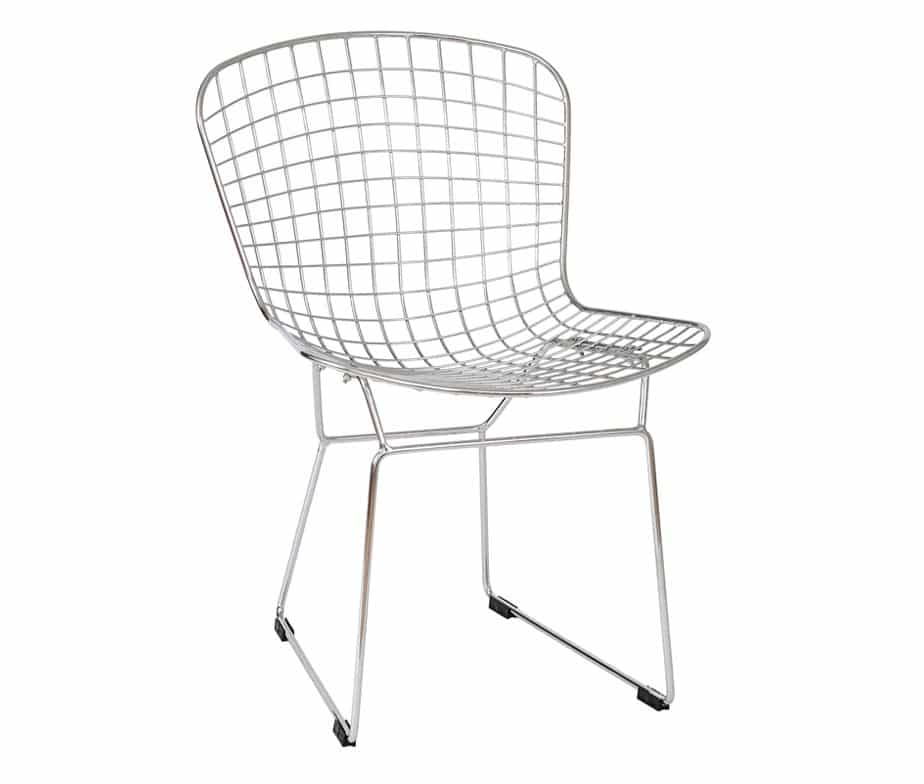 Chrome Mesh Dining Chair With Sled Legs By Warner Contracts
