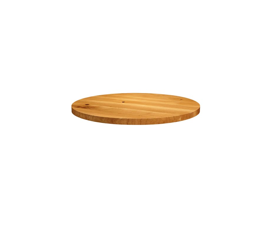 Small Round Chunky Oak Table Tops