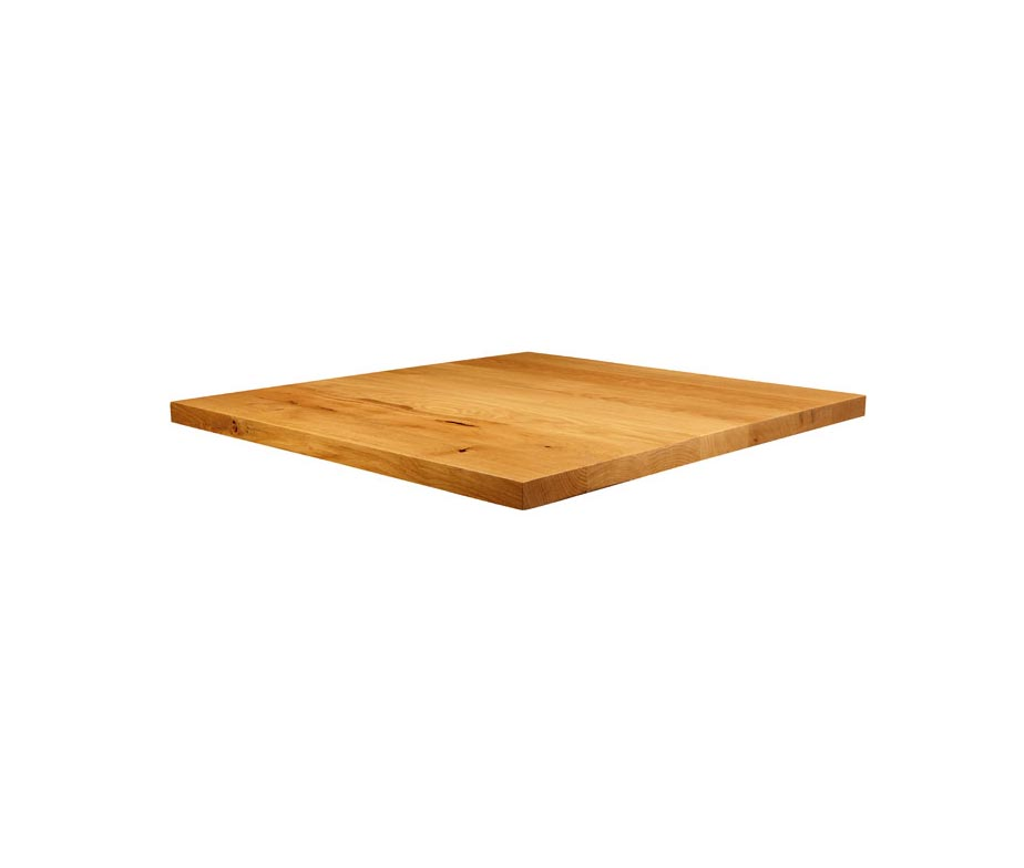 Small Square Chunky Oak Table Tops