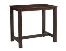Chunky Rectangular Poseur Tables Dark Walnut