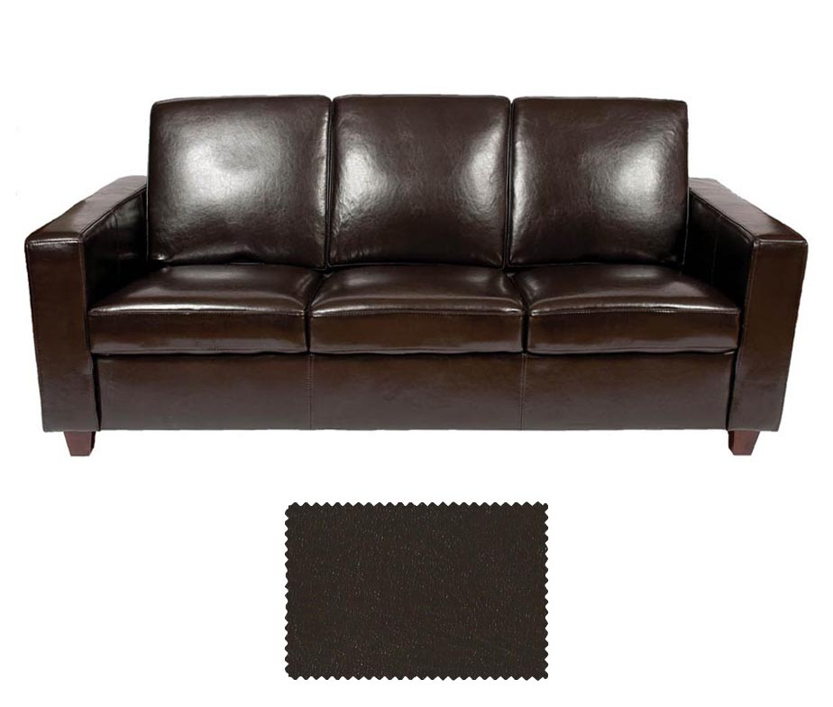 classic leather 3 seater sofa by warner contract furniture. Black Bedroom Furniture Sets. Home Design Ideas