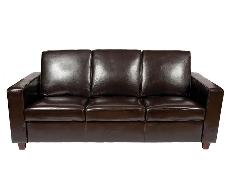 Classic leather 3 seater sofa by warner contract furniture for Classic loveseat