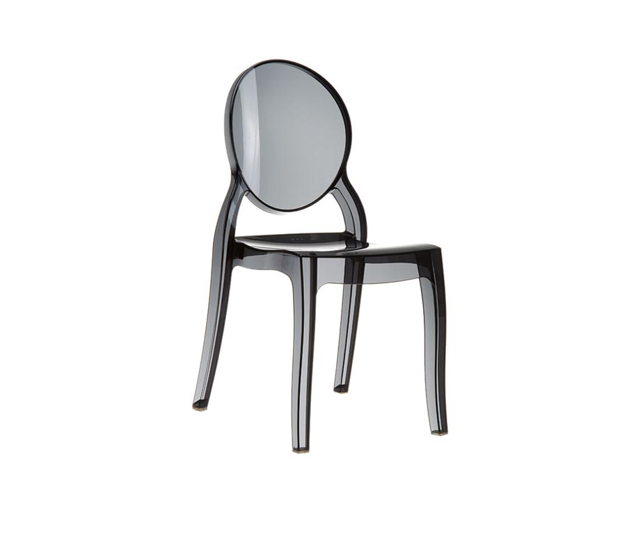 Clear Plastic Chairs Manufactured From Translucent Acrylic