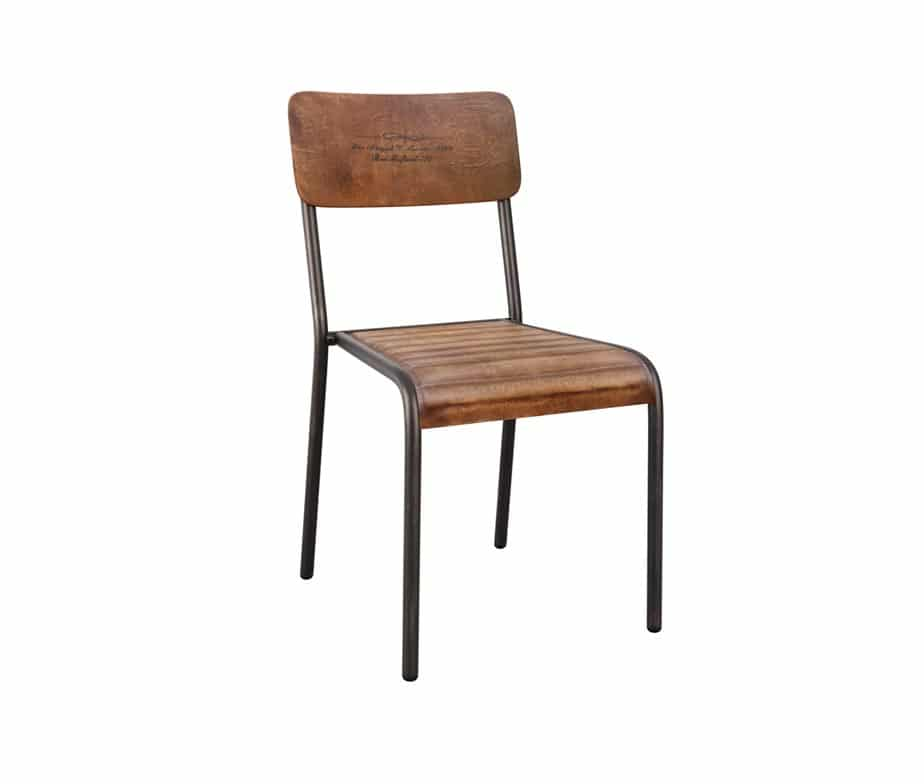 Crusoe Vintage Leather Dining Chairs
