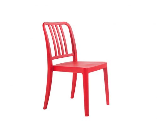 Cruz Outdoor Cafe Chairs Red