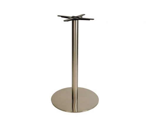 Danilo Large Stainless Steel Round Poseur Tables