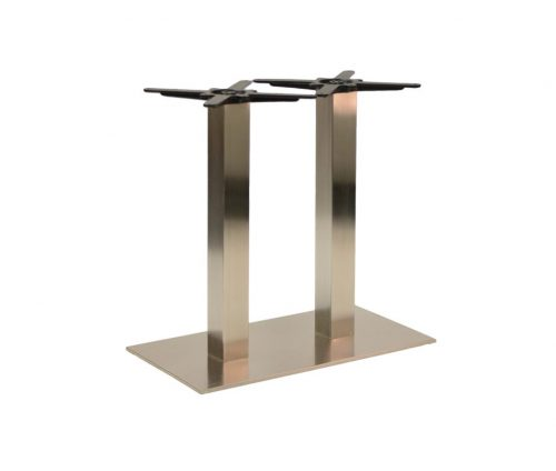 Danilo Large Stainless Steel Twin Ped Dining Tables