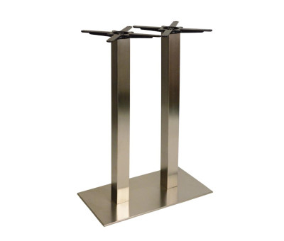 Danilo Large Stainless Steel Twin Ped Poseur Tables