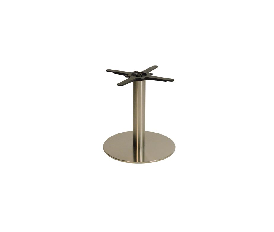 Round Stainless Base Coffee Height Tables: Danilo Medium Round Coffee Table Base Modern And Stylish