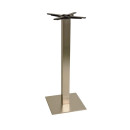 Danilo Medium Stainless Steel Square Poseur Tables