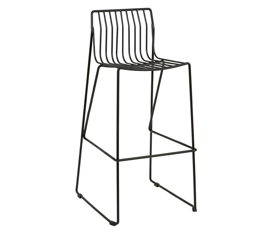 Eddy Bar Stools Steel Wire Frame With Sled Legs