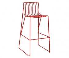 Eddy Red Metal Bar Stools