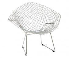Diamond Chrome Mesh Designer Armchair