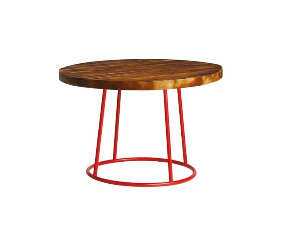 Drum Coffee Table Red