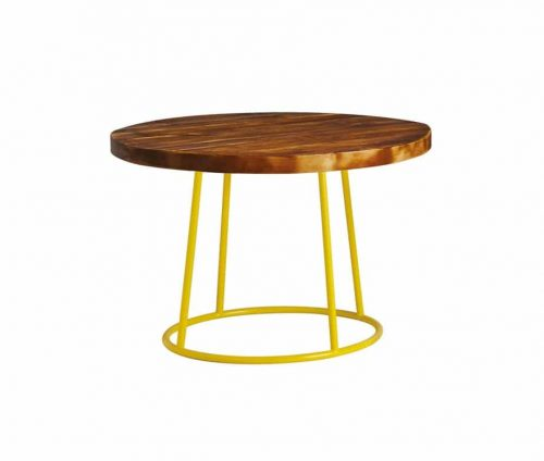 Drum Coffee Table Yellow