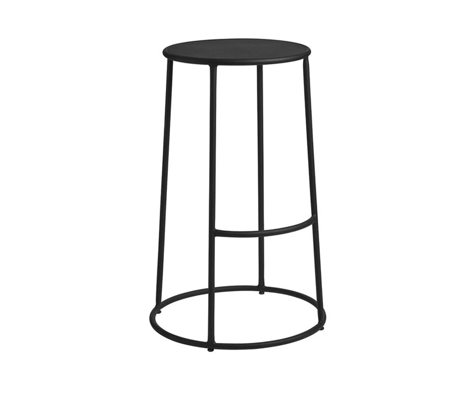 Drum High Stool For Bars And Cafes Indoor And Outdoor Use