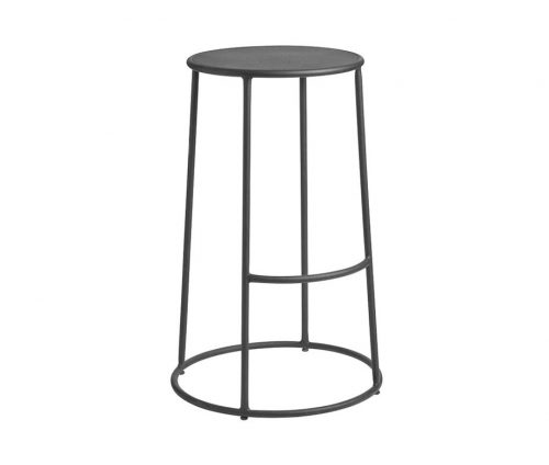 Drum High Stool Gun Metal Grey