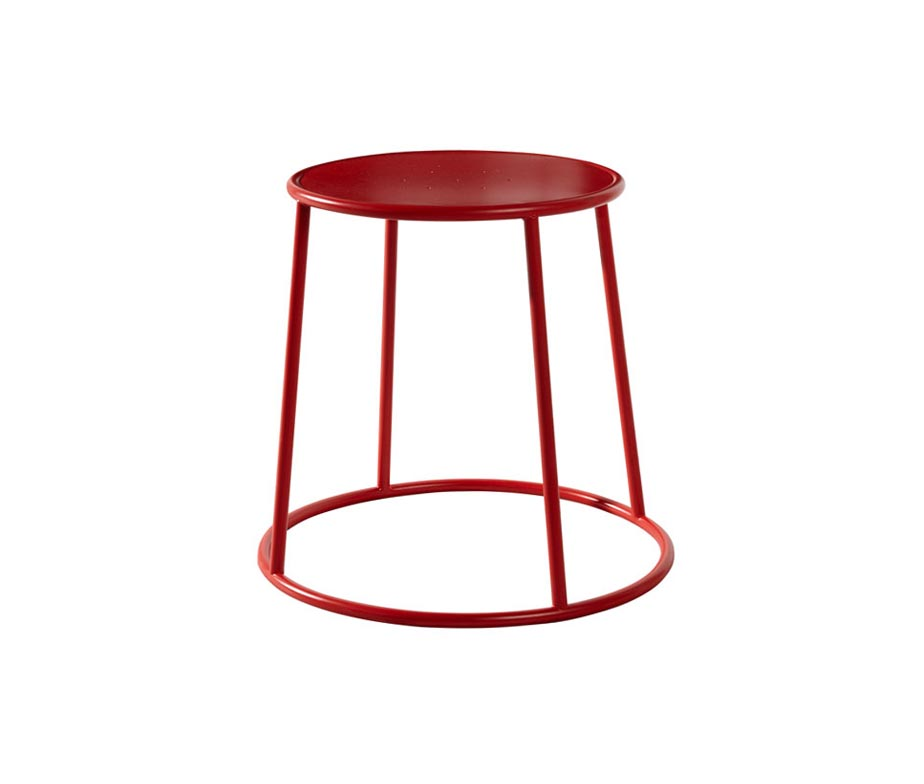 Drum Low Stool Red