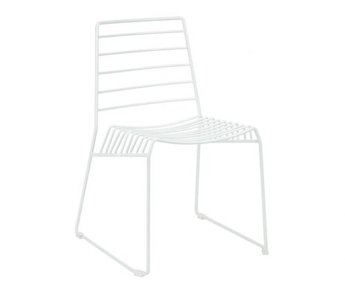 Ebb White Sled Leg Side Chair
