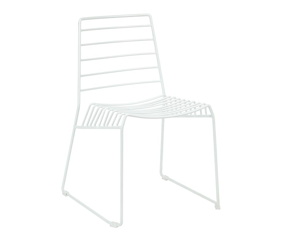 Ebb Sled Leg Side Chair Made From Steel With A Wire Frame