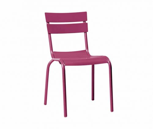 Elvin Outdoor Cafe Chairs Purple