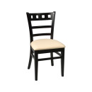 Enzo Restaurant Chair Wenge Cream