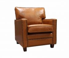 Epoch Vintage Leather Armchairs Tan