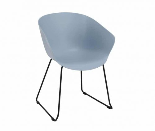Farringdon Armchair Blue Skid Frame