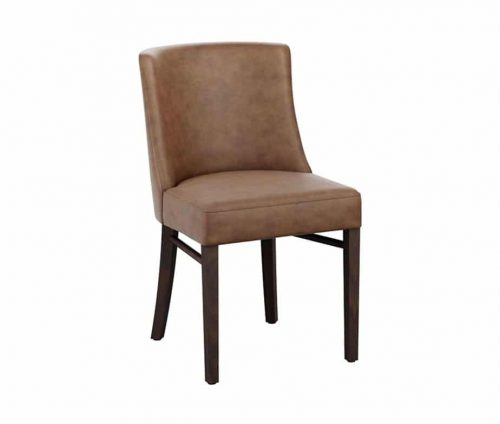 Felice Fully Upholstered Dining Chairs Distressed Brown